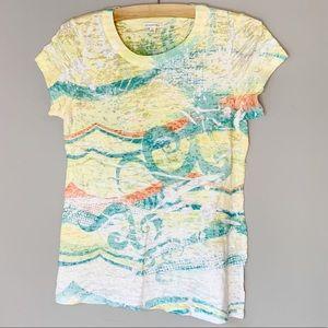 Maurices crinkle print light shirt sleeve shirt L